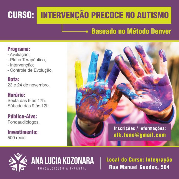 Curso de Intervenção Precoce no Autismo